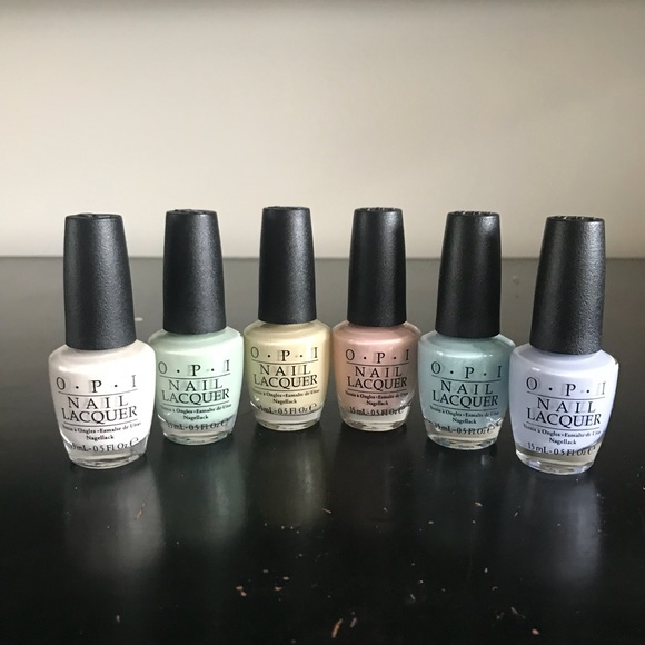 OPI Nail Polish Color PASTEL Collection T71 to T76 NWT